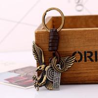 Wholesale Hawk Rings - Key Chain Ring Finder Alloy Eagle Hawk, Letter Tag ,Lollipop,Pendant Retro Ornament Retro Punk Fashion Men's Women's Gift