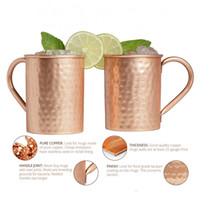 Wholesale bottle hammer resale online - Moscow Mule Mugs ml Stainless Steel cup Hammered Copper Plated Mugs Beer Stainless Steel Wine Glass Water Bottle