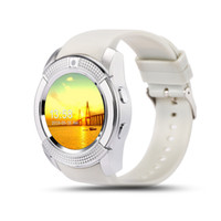 Wholesale Mobile Phone Full Hd - 2016 New Arrival V8 Watch Mobile Phone Bluetooth 3.0 IPS HD Full Circle Display Smartwatch OGS SIM TF Card VS GT08 A1