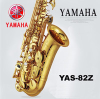 Wholesale Saxophone Lacquer - Wholesale-2016 New High quality alto YAS 82Z saxophone musical instruments professional E-flat sax alto Gold