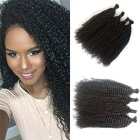 4 Bundles Malásia Afro Kinky Curly Bulk Hair No Weft Color natural Cabelo humano Bulk para trança FDSHINE