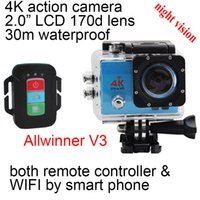 """Wholesale Used Night Vision - action camera 4K 1080P wifi sports DV Q3HR night vision outdoor diving DV 2.0"""" remote control IP68 30m waterproof underwater sport camera"""