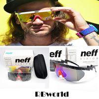 óculos de sol grandes para homens venda por atacado-Neff óculos de sol dos homens designer de marca esporte óculos ciclismo eyewear big frame óculos de sol com embalagem 2 Lens Superstar Lebron James Goggles