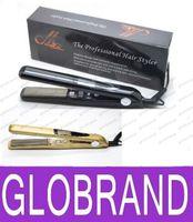 "Wholesale Plug Vibrate - NEW 360 ROTATING 1"" Professional Vibrate Plate Titanium brazilian Hair Straightening Flat Iron 470 F US Plug -Yellow black GLO896"