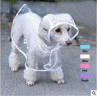 Wholesale Wholesale Pvc Raincoats - 4 Colors High Quality Transparent PVC Pet Coat Dress Dog Rainwear Raincoat Pets Products Roupa Para Cachorro Raincoat CCA4804 100pcs