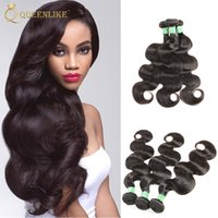 7a armure brazillienne achat en gros de-Produits de cheveux Queenlike Brazillian Body Wave Virgin Weave de cheveux en gros 7a Grade Brazilan Wet And Wavy Brazilian Hair Bundles