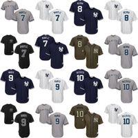 Wholesale Cool White Kids - Free shipping Youth New York Yankees 7 Mickey Mantle 8 Yogi Berra 9 Roger Maris 10 Phil Rizzuto Cool Base kids Baseball Jersey stitched