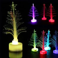 LED Árvore de Natal Cor Changing Light Party Christmas Tree Nightlight levou lâmpada Decorações de Natal para o presente Home New Year quente