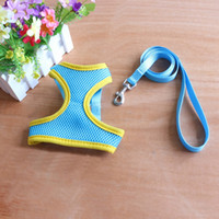 Wholesale Lovely Dog Collar - 100pcs Lovely Cute Small dog Harness Pet Collar Supplies Chihuahua Dog Leash Lead Set Pet Shop Pet Harness WA0558