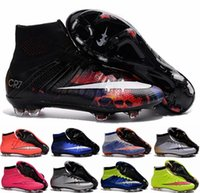 Wholesale Girls Youth Boots - 2016 Women FG CR7 Soccer Shoes Youth Soccer Boots Cleats Laser Kids Boys Girls Woman Outdoor Indoor Football Shoes Eur 36-39 Free Shipping