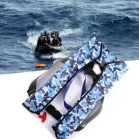 Wholesale Swim Jacket Safety - Wholesale- Automatic Inflatable Surfing Life Jacket Adult Swimwear Boating Swimming Water Sports Safety Jacket Water Sport Wear