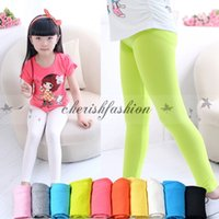 Wholesale Classic Girl Leggings - Fashion girls leggings girl pants new arrive Candy color Toddler classic Leggings big children trousers baby kids leggings Z288-B