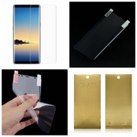 Wholesale Note Screen Parts - 0.1MM 3D Korea PET Bending Curved Part Full Cover bending Screen Protector For Galaxy S9 Plus Note 8 S8 Plus S7 Edge S6 Surface Bending Film