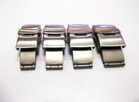 Wholesale Watch Press Free Shipping - Wholesale-18-22mm Stainless Steel Double Press Watch Strap Clasp Buckle Replacement Parts Accessory free shipping