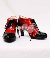 Wholesale Black Butler Grell Sutcliff Cosplay - Wholesale-Black Butler Kuroshitsuji Grell Sutcliff Imitated cosplay shoes Customize free Shipping
