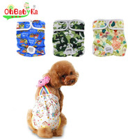 Wholesale Diaper Female Dog - Ohbabyka Brand Pet Dog Pants Reusable Dog Diaper Cover Nappy Changing 100% Ployester Washable Dog Diapers Couche Lavable Panties