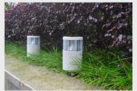 molienda de resina al por mayor-Resina impermeable solar lámpara de césped IP54 Jardín al aire libre paisaje decoración Luz solar inalámbrica tierra luz SOD014