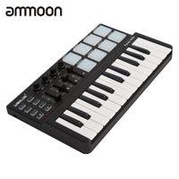 Wholesale mini keys keyboard - Wholesale- High Quality mini Portable Mini Keyboard and Drum Pad 25-Key USB MIDI Controller with Durable USB Cable