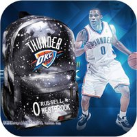 Wholesale Russell Westbrook backpack students backpack gift bag schoolbag boys girls backetball star backpack computer bag youth bag