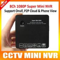 Wholesale Hd Onvif - Super H.264 8CH Home Security Mini Portable HD 1080P P2P Network Video Recorder NVR Onvif 2.0 15 Multiple-languages