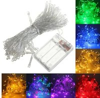 Wholesale Xmas Lights For Sale - 4M 40 LED Battery Operated LED String Lights for Xmas Garland Party Wedding Decoration Christmas Flasher Fairy Lights On Sale
