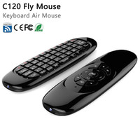 Wholesale Android Slim Laptop - C120 2.4G Wireless Fly Gaming Air Mouse keyboard 3D Somatic handle Remote Control for Laptop Set-top-boxes Android TV Box