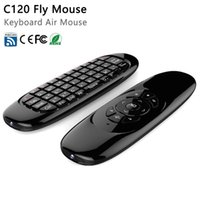 Clavier C120 2.4G sans fil Fly Gaming Air Mouse 3D somatique poignée de commande à distance pour ordinateur portable Set-top-boxes Android TV Box