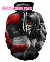 Wholesale tokyo ghoul sweatshirt - New Fashion Couples Men Women Unisex Classic Anime Tokyo Ghoul 3D Print Hoodies Sweater Sweatshirt Jackets Pullover Top S-5XL TT4