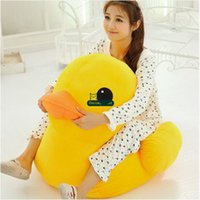Wholesale Toy Yellow Soft Duck - Dorimytrader 100cm Giant Soft Cartoon Yellow Duck Toy 39'' Big Animal Ducks Doll Sofa Nice Kids Christmas Gift DY61332