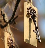 eski iskelet tuşları toptan satış-Toptan-Vintage Anahtar Şişe Açacağı Antik Anahtar Bira Açacağı İskelet Anahtar Şişe Açacağı Düğün Favor