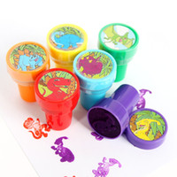 Wholesale Automatic Stamping - Wholesale-6pcs   lot Cartoon Animals Marine puppy cute smiley stamp encourage teachers to learn the oil seal automatic 6