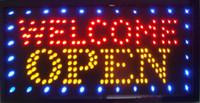 işıklar neon tabelası açık toptan satış-Doğrudan satış yeni reklam ışık dükkanı karşılama açık işareti 33 * 60 CM led neon burcu led reklam panoları Toptan
