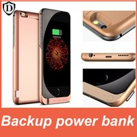Wholesale Battery Packs Plus - 10000mAh Backup power bank for iPhone 6  6s plus Rechargeable External Battery Pack Power case with retail box