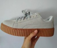 Femmes Casual Sports Running Chaussures de Jogging 2017 Nouveau Basket Creepers Glo Rihanna Sneakers Femmes Mode Classique Chaussures Baskets Taille 36-44