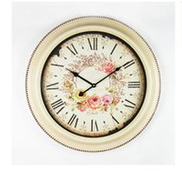 Wholesale Sun Wall Clocks - Sun crafts wholesale Europe type restoring ancient ways clock wall clock The sitting room the bedroom creative round the clock quality guara