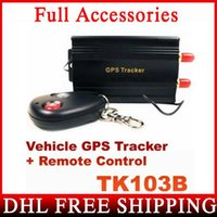 DHL Fedex 10PCS QUAD BAND GPS 103B TK103B GPS103 Car Motor Vehicle Realtime GPS Tracker Com Controle Remoto
