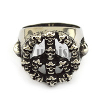 Wholesale Wholesale Ring Form - Wholesale 2016 New Arrival Hot Sale Top Quality Skull Ring Peace Sign Symbol Ring Formed By Many Skull