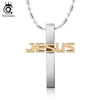Wholesale Wholesale Jesus Chain - Hot sale 316L Stainless Steel Cross Pendant Necklace for Men Female Jesus Religious Necklace Jewelry GTN03