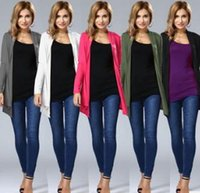 backless sweater long sleeve 2018 - Poncho Fashion 5 Colors Women's Cardigans Shrug Sweaters Sexy Autumn Winter Irregular Hem Loose Long Tops Fall Oversized Sweat DHL MDL171008