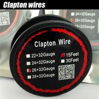 Wholesale nichrome wire coil resale online - Nichrome Wire Clapton Coils Heating Wires Prebuilt Coils Clapton Coils AWG AWG AWG AWG DIY Coil Wire For Vape