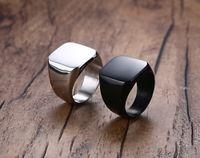 Wholesale White Rings Blanks - Beichong Brand New Fashion Simple 316L Titanium Steel Blank Plain Men Ring Jewelry 2017