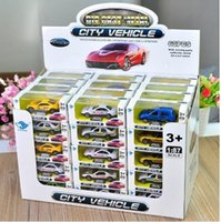 Wholesale Hot Wheels Mini Cars - 2pcs 1:87 Mini Hot Wheels Machines Alloy Car Model Diecast Sports Car Metal Taxi Initial D Model Toys for Boy Kids Birthday Christmas Gift