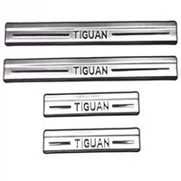 Wholesale Door Sill Vw - For Volkswagen Tiguan Stainless Steel Door Sill Scuff Plate Welcome Pedal Threshold for 2010-2014 2015 Vw Tiguan Car Accessories