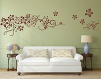 Wholesale Vine Wall Vinyl - Flower Vine Art Wall Decal Removable Wall Sticker Home Decor wallpaper mural