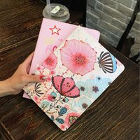 Wholesale Leather Case Painting Series - 24styles Fashion PU Leather Case for iPad Air Air2 For iPad 9.7 inch 2017 Cartoon Flower Painting Series with Stand Smart Cover