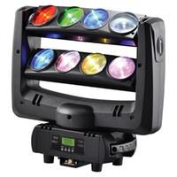 iluminación de haz en movimiento al por mayor-DJ LED araña cabeza móvil haz de luz de lavado 8x10W RGBW 4in1 blanco escenario iluminación 100W cambio multicolor controlador DMX