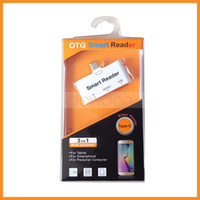 Wholesale Otg Smart Card Readers - Multi 5 in 1 Type C Card Reader USB 3.1 Smart OTG Reader Support TF SD USB Ports