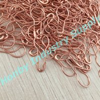 Wholesale Jewelry Safety Pin - 1000 pcs fashion rose gold bulb shaped safety pin good for garment tags, DIY craft, jewelry making
