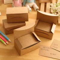 Wholesale Packed Korea Retro Thick Craft Paper Business Card Message Card Word Cards Jams Memo Pads H0427