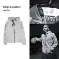 Wholesale thin sweatshirts for women - New Thin Basketball Sportwear Men Women Hoodies Sweatshirts Hoodie Tracksuit Black and Grey For Autumn Winter